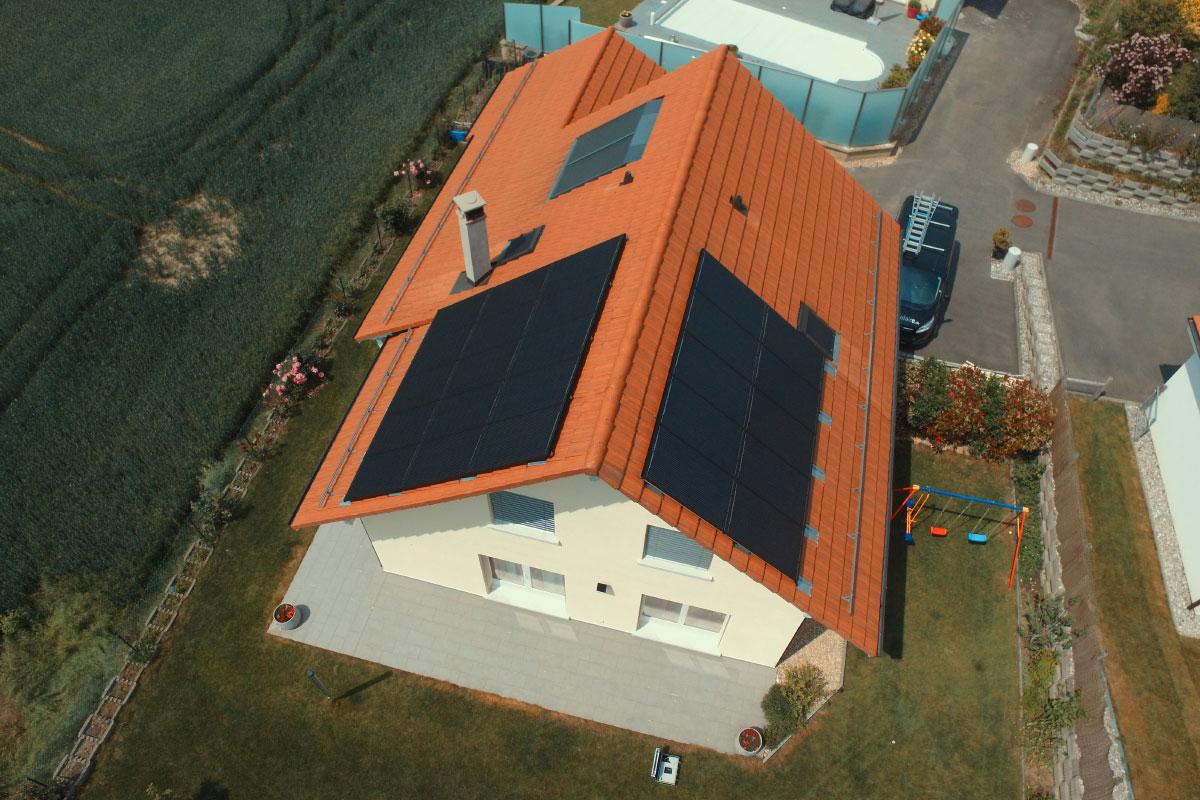 Installation photovoltaïque ajoutée - Swissolaire
