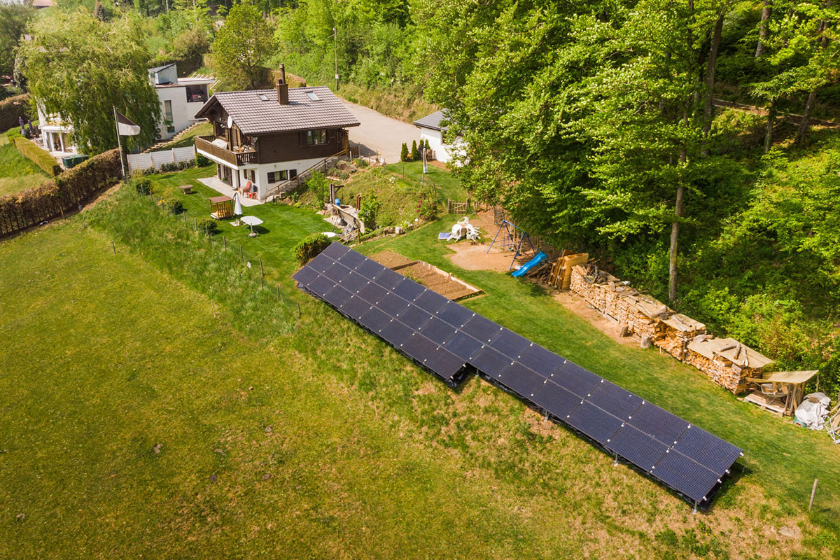 Installation photovoltaïque au sol - Swissolaire